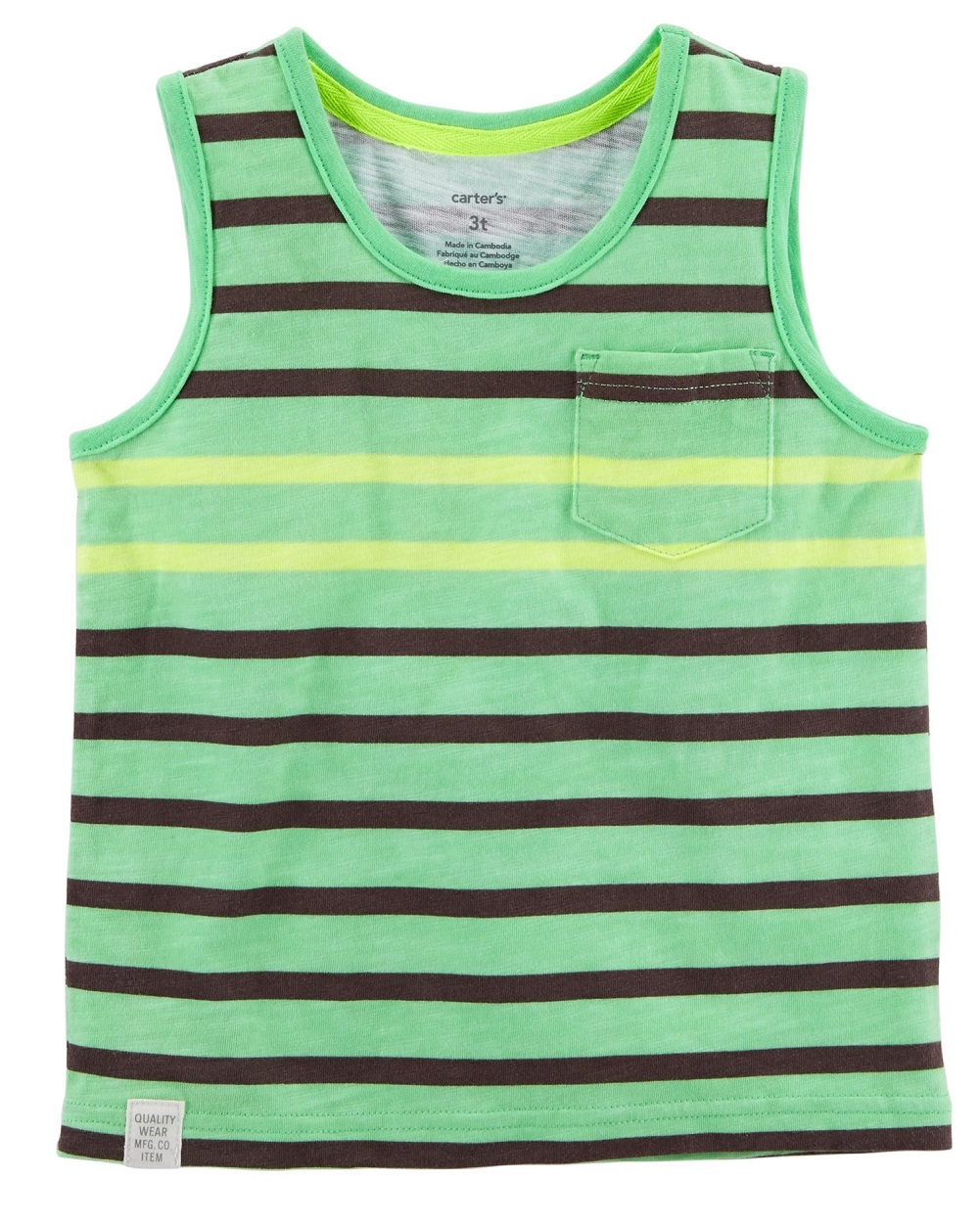 Carter's Little Boys' Neon Striped Tank Top