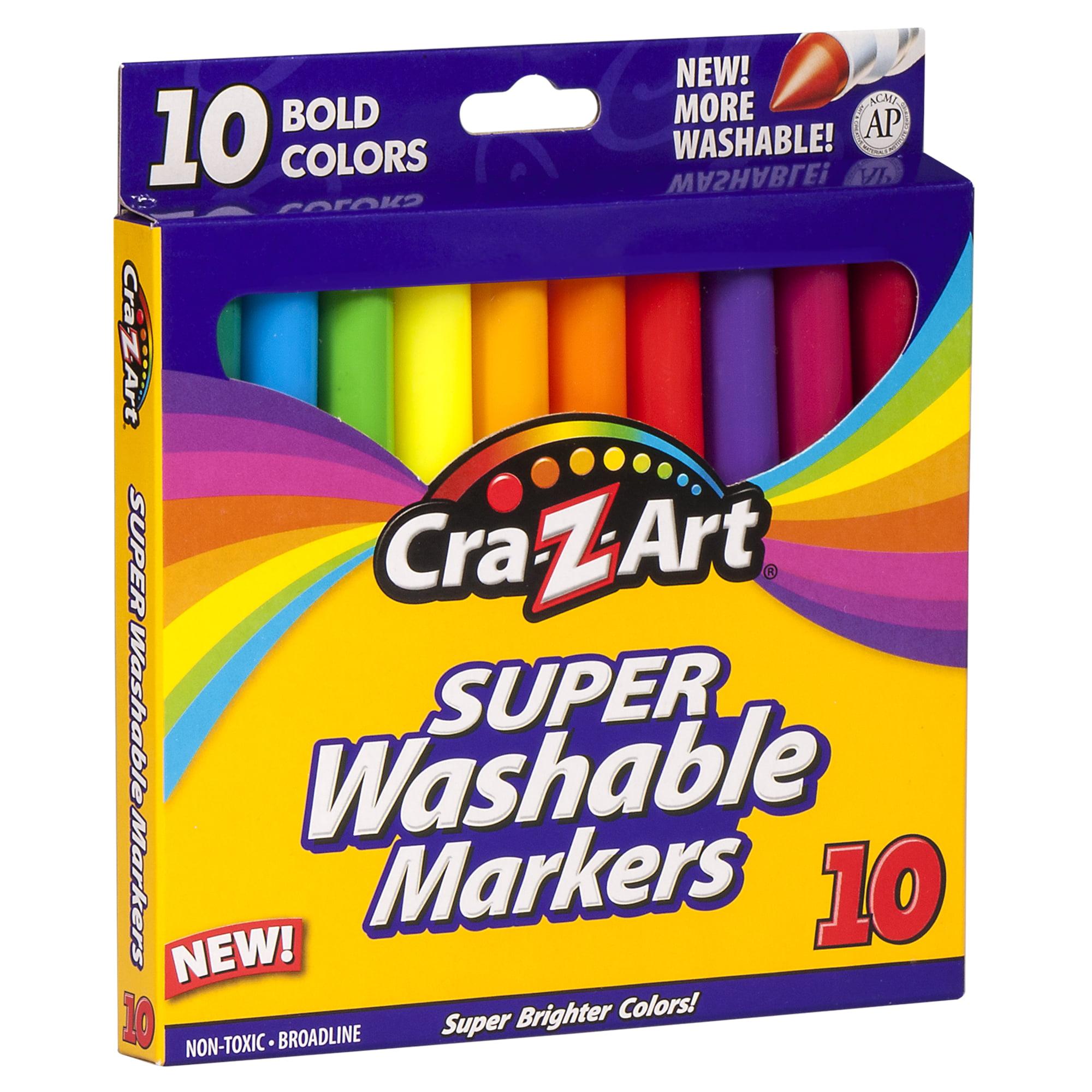 Cra-Z-Art Bold Washable Broadline Markers - 10 Count