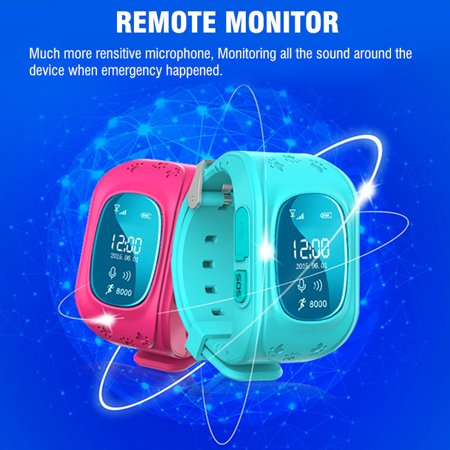 Anti-lost Smart Watch GPS Tracker SOS Call GSM SIM Gifts For Child Kids - image 4 of 11