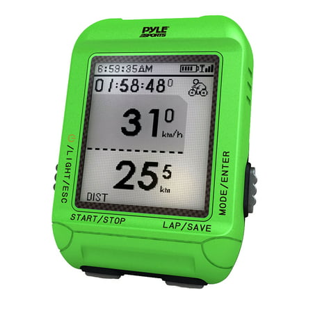 Smart Bicycling Computer with GPS Performance & Navigation Analysis Software and ANT+ Technology for Biking, Training, Exercise, Fitness (Green Color)