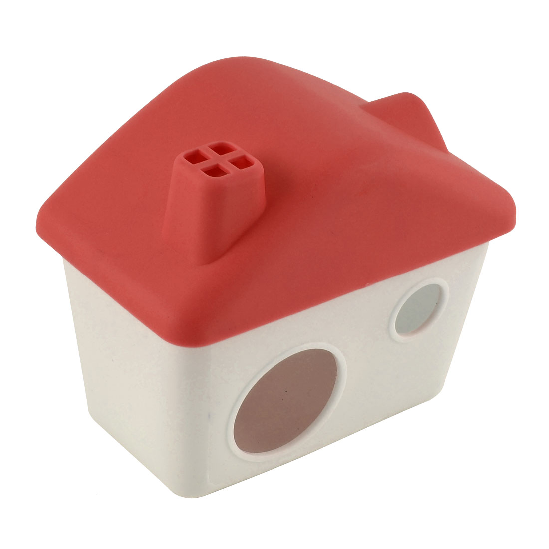 Plastic Cabin Shaped Portable Washable Comfortable Hamster House Red