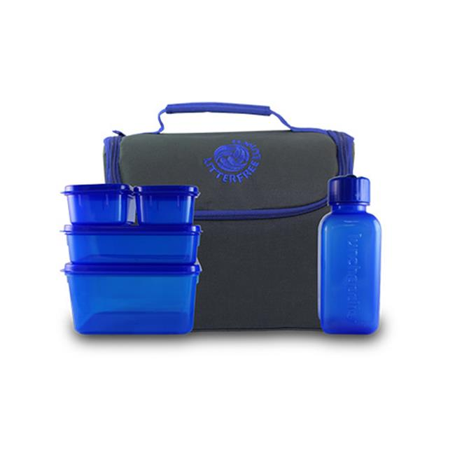 New Wave Enviro 796515500073 Litter Free Lunch - Solid with BPA-free containers