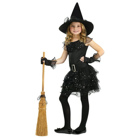 Girls Glitter Witch Halloween - Witch Girl Costume