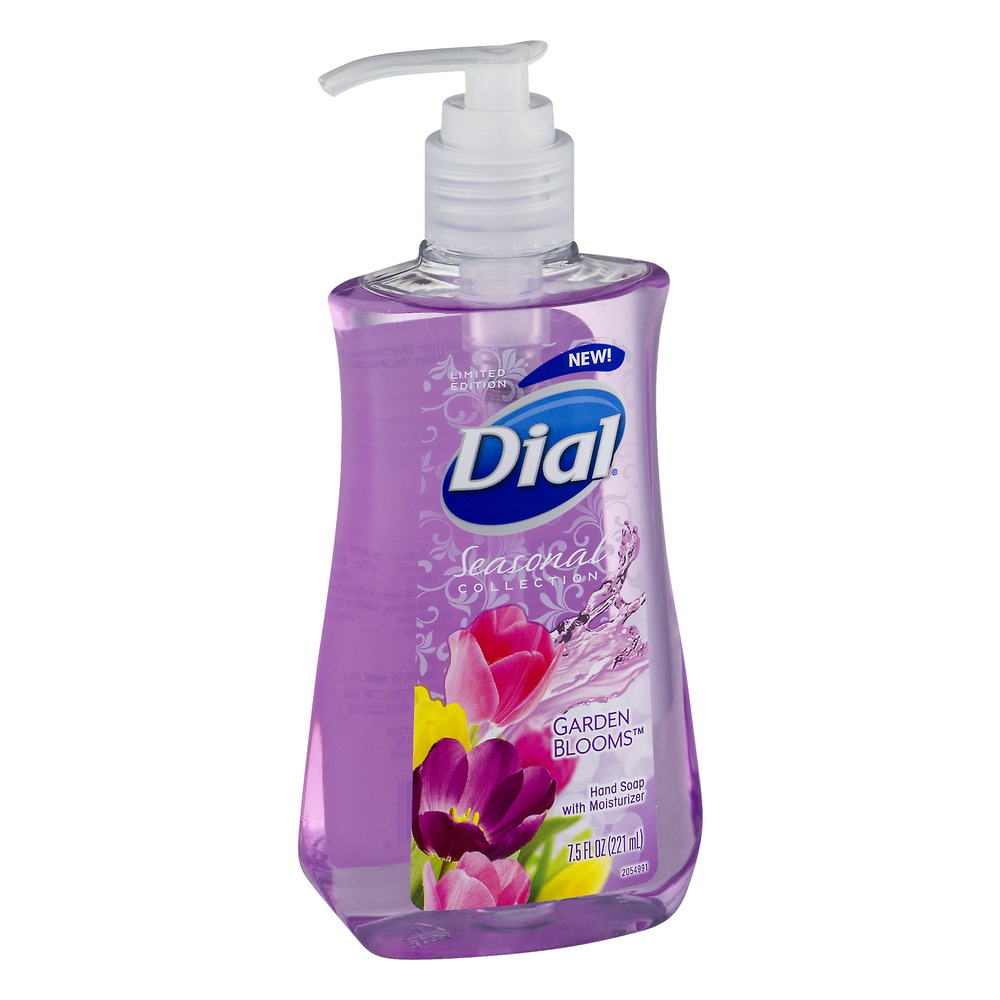 (4 Pack) Dial Seasonal Collection Hand Soap with Moisturizer, Garden Blooms, 7.5 Fl Oz