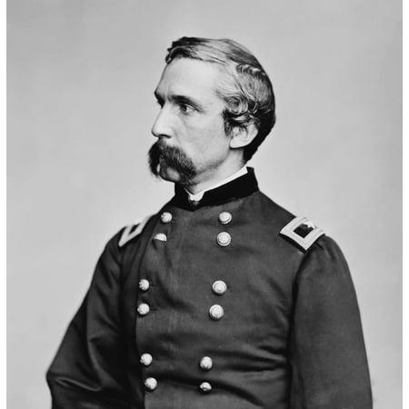 Digitally Restored Vector Portrait Of General Joshua Lawrence Chamberlain Canvas Art