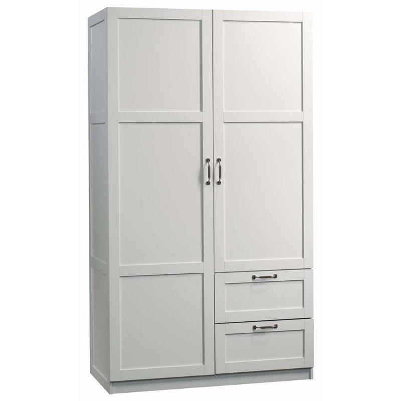 Elegant Sauder Select Wardrobe Armoire In White Image 2 Of 3