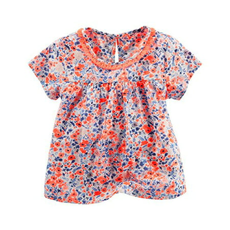 OshKosh B'gosh Little Girls' Yoke Fashion Blouse, Floral, - Girls Floral Blouse