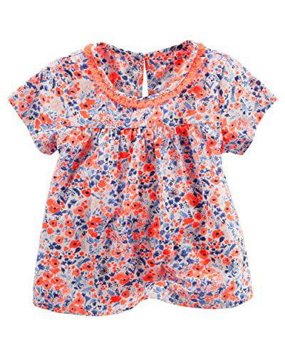 OshKosh B'gosh Little Girls' Yoke Fashion Blouse, Floral, 4T