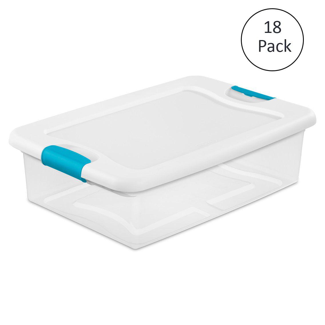 Sterilite 32-Qt. Clear Stackable Latching Storage Box Con...