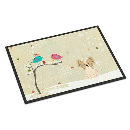 christmas presents between friends papillon sable white door mat walmartcom