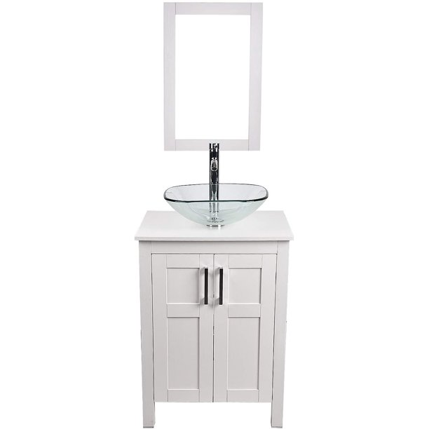 24 Inch White Bathroom Vanity And Sink, Small Bathroom Sink And Vanity Combo
