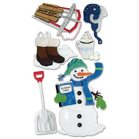 Jolee's Christmas Stickers, Snow Day, jolees boutique, stickers , snowday, school By JOLEES ()