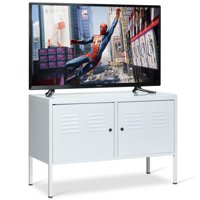 Gymax TV Stand Entertainment Center Two Doors Media Console Cabinet For TV up to 40''