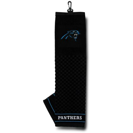 Carolina Panthers Embroidered Leather - Carolina Panthers Embroidered Towel