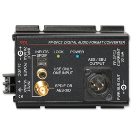 - RDL FP-DFC2 Digital Audio Format Converter (24-192)