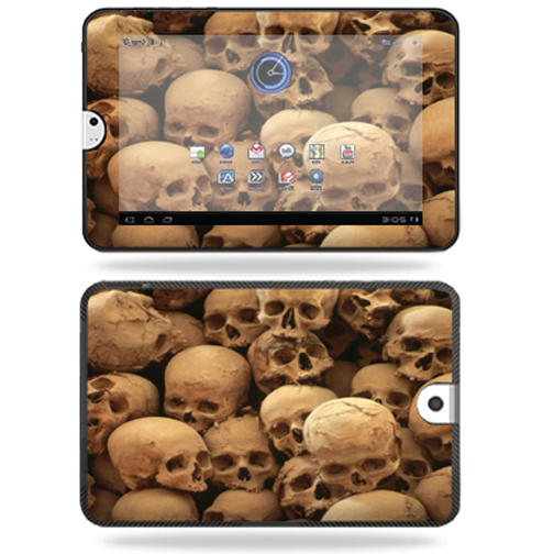 Mightyskins Protective Vinyl Skin Decal Cover for Toshiba Thrive 10.1 Android Tablet wrap sticker skins Skull Pile