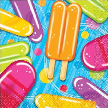 Popsicle Ice Cream Summer Beverage Napkins, - Ice Cream Party Ideas