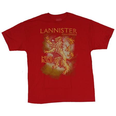 Roaring Twenties Mens Clothing (Game of Thrones Mens T-Shirt - Hear Me Roar Yellow Orange Lannister)