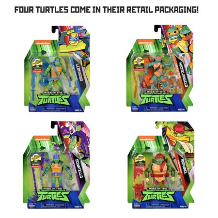 Rise of the Teenage Mutant Ninja Turtles Basic Action Figure 4Pk Bundle