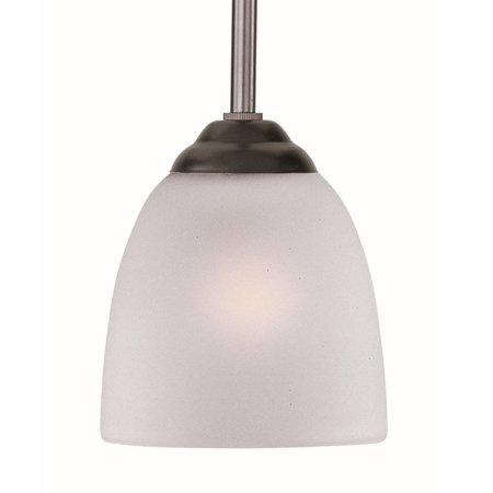 Maxim Lighting Stefan - One Light Mini Pendant, Oil Rubbed Bronze Finish with Frosted Glass