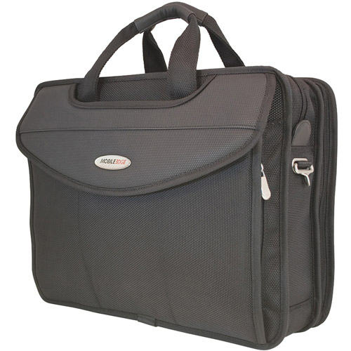 "Mobile Edge MEVLP1 16"" Premium V-Load Laptop Briefcase, Black"