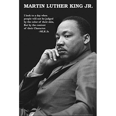 Black History Month Posters (Martin Luther King Jr with Character Quote 36x24 Art Print Poster Black and)