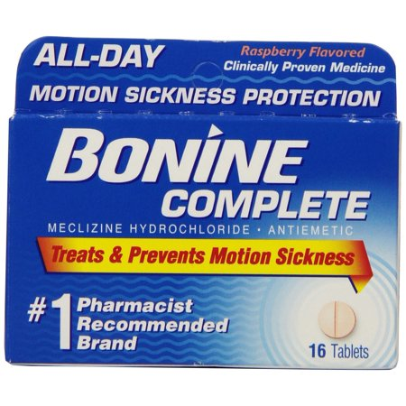 Bonine Motion Sickness Protection Chewable Tablets 16 tablets nausea (3