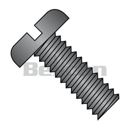 0.25-20 x 0.75 Slotted Pan Fully Threaded Machine Screw, Black - Zinc - Box of 3000 - image 1 de 1