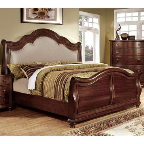 Furniture of America Ceres II Brown Cherry Platform Bed Q...