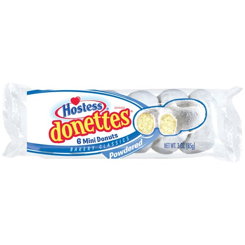 Hostess Donettes Powdered Mini Donuts 6 ct 3.0 oz. Bag