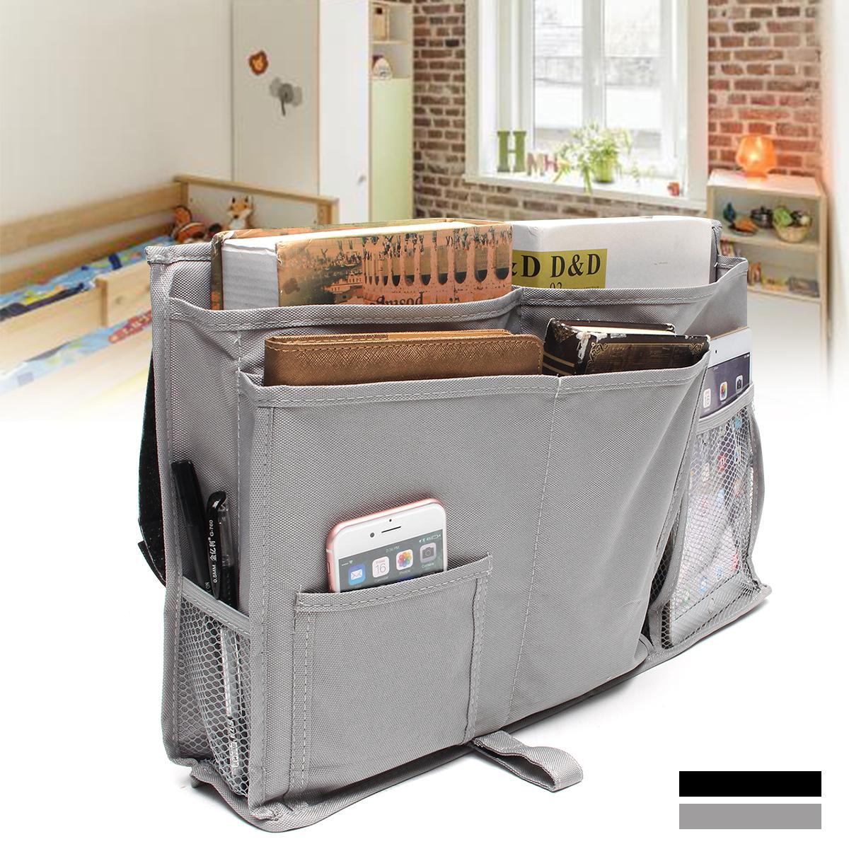 Grtsunsea 50x30cm/ 19.69x11.81'' Bedside Hanging Storage Pocket Organizer Holder Cabin Chair Shelf Bunk Baby Bed Storage Boxes