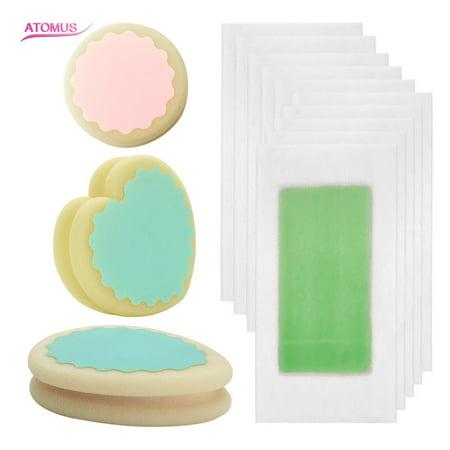 3pcs Painless Hair Removal Sponge & 10pcs Wax Strip Paper Remover Pad Depilation Sponge Safe Way To Remove Body Hair Leg Arm Armpit Bikini Hair Removal (Easy Way To Remove Hair From Bikini Area)