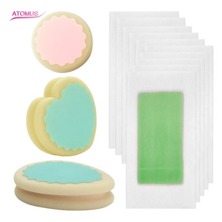 3pcs Painless Hair Removal Sponge & 10pcs Wax Strip Paper Remover Pad Depilation Sponge Safe Way To Remove Body Hair Leg Arm Armpit Bikini Hair Removal (Best Way To Remove Breast Hair)