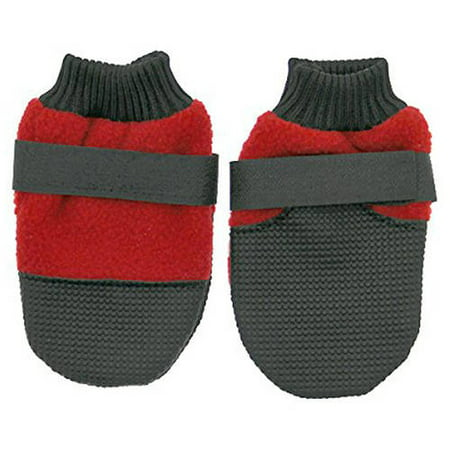 000503 Muttluks Hott Doggers Lightweight Fleece Dog Boots, Set of 4, Red, XIB