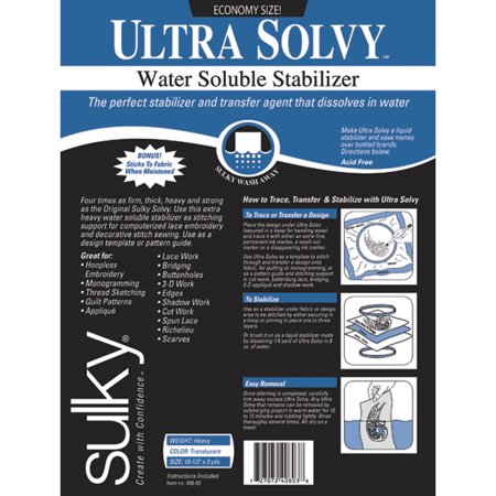 Ultra Solvy Water Soluble Stabilizer, 19-1/2