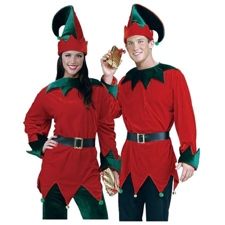 Unisex Santa's Helper Elf Economy Christmas Costume for $<!---->