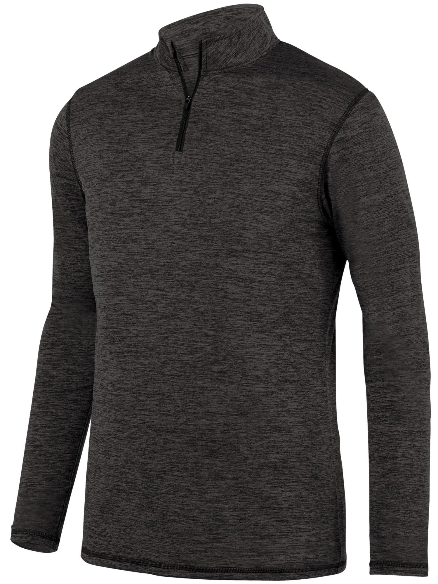 Augusta Sportswear Boys' Intensify Black Heather 1/4 Zip Pullover 2956