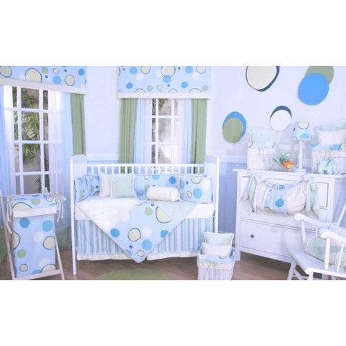 Brandee Danielle Minky Bubbles 4 Piece Crib Bedding Set