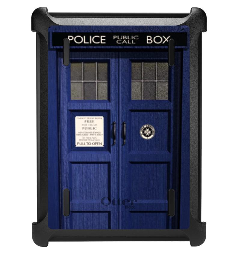 CUSTOM Black OtterBox Defender Series Case for Apple iPad Air 1 (2013 Model) - London Police Call Box TARDIS