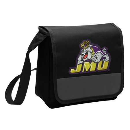 James Madison University Lunch Bag Stylish OFFICIAL JMU Lunchbox Cooler for School or Office - Men or (Official Duke Store)
