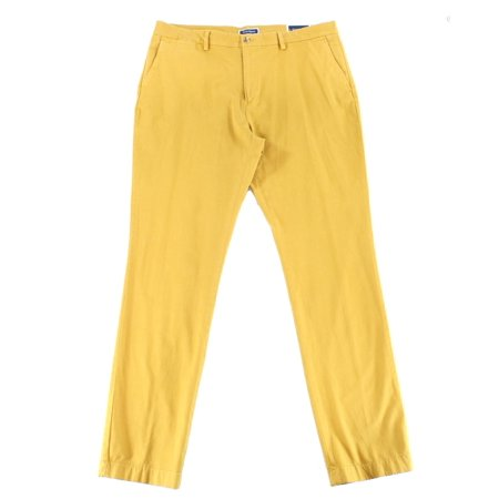 Club Room NEW Vant Gold Yellow Men Size 32 Slim Fit Chinos Stretch (Yellow Pants Men)