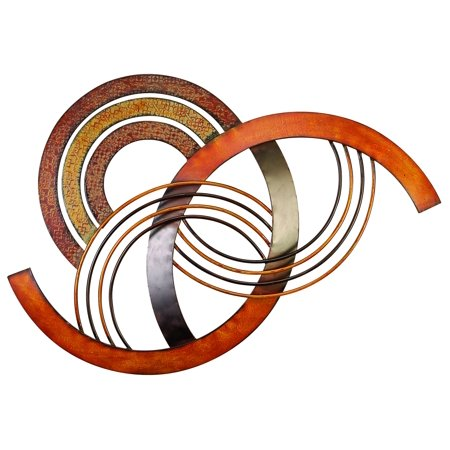 Metal Wall Decor With Brown, Red And Orange Colors ()