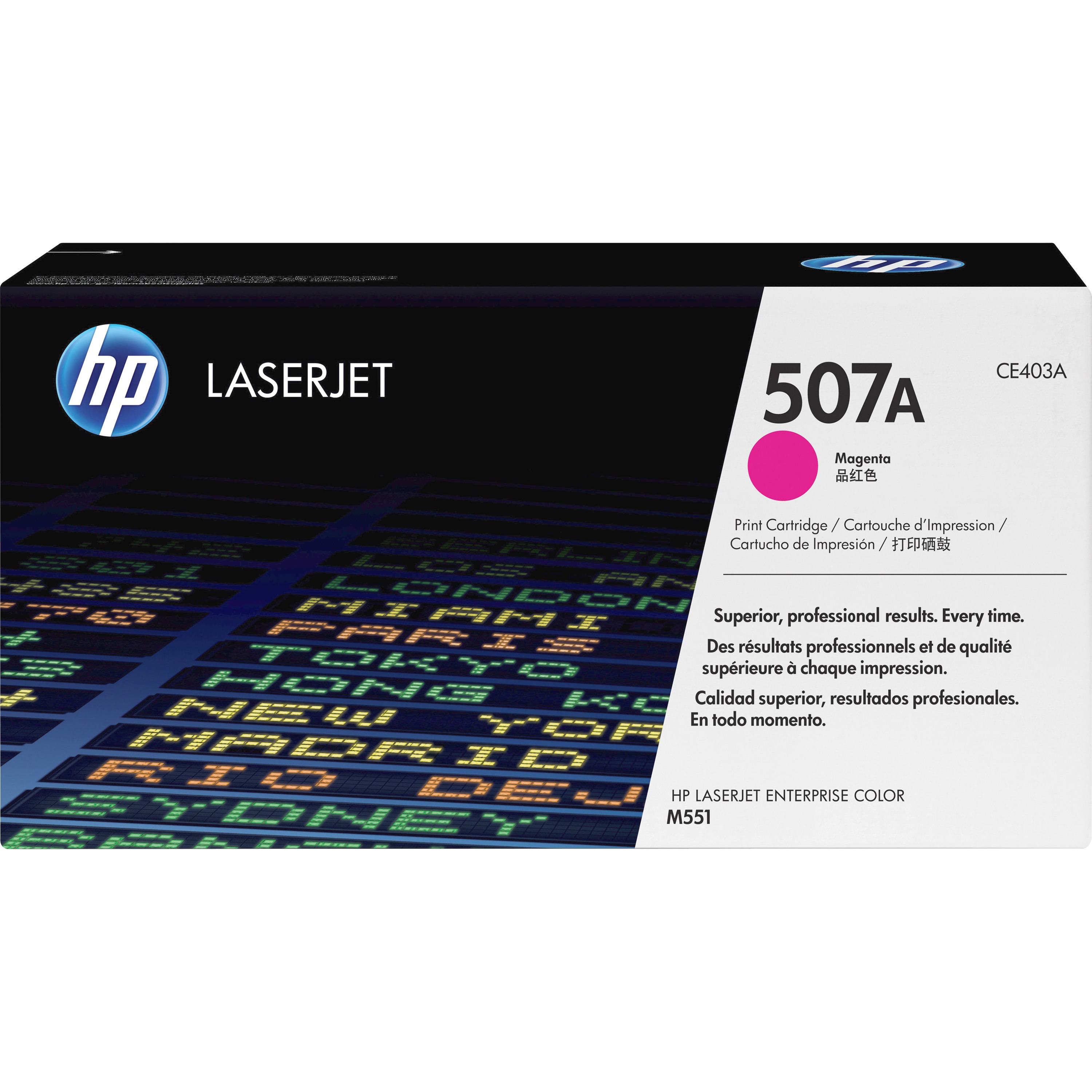 HP, HEWCE403A, 507A/507X Toner Cartridges, 1 Each