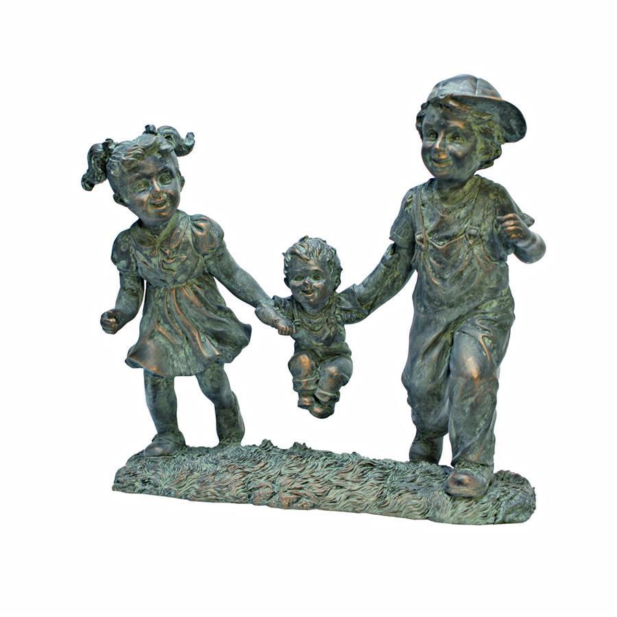 Swing Time: Children Garden Statue by Garden Statues