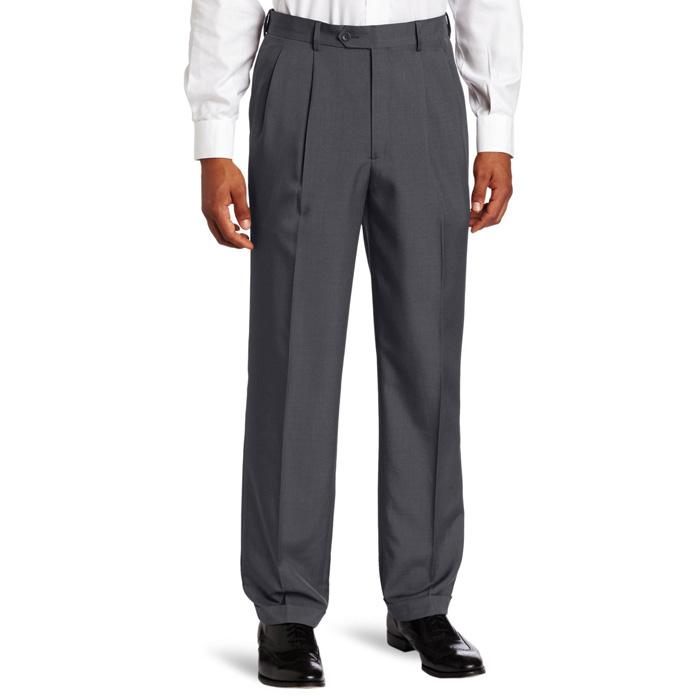 Savane Men's Big & Tall Pleated Select Edition Dress Pant