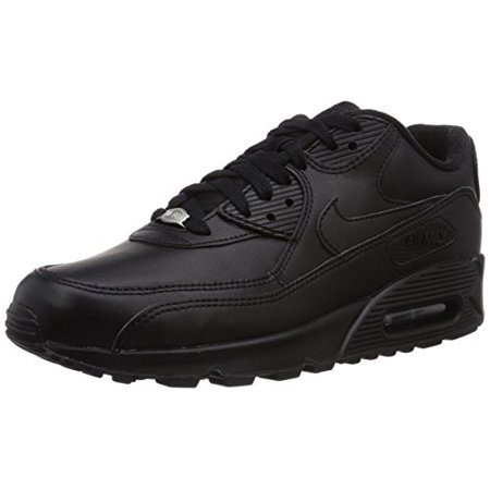 Nike Mens Air Max 90 Leather Running Shoes BlackBlack 302519 001 Size 11.5