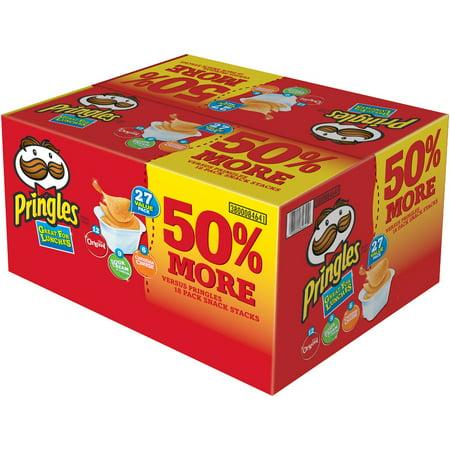 Pringles Snack Stacks! Potato Crisps Variety Pack, Original/Sour Cream & Onion/Cheddar