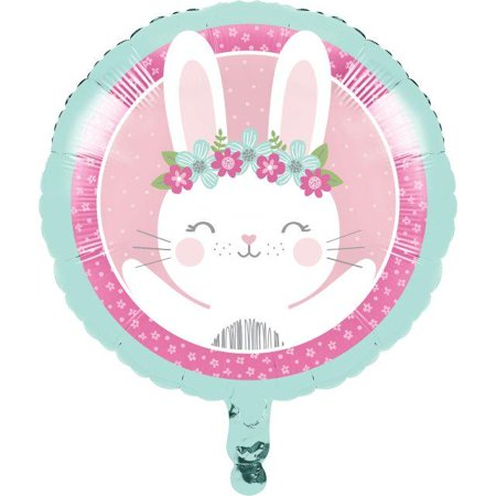 Creative Converting Birthday Bunny Metallic Balloon 18