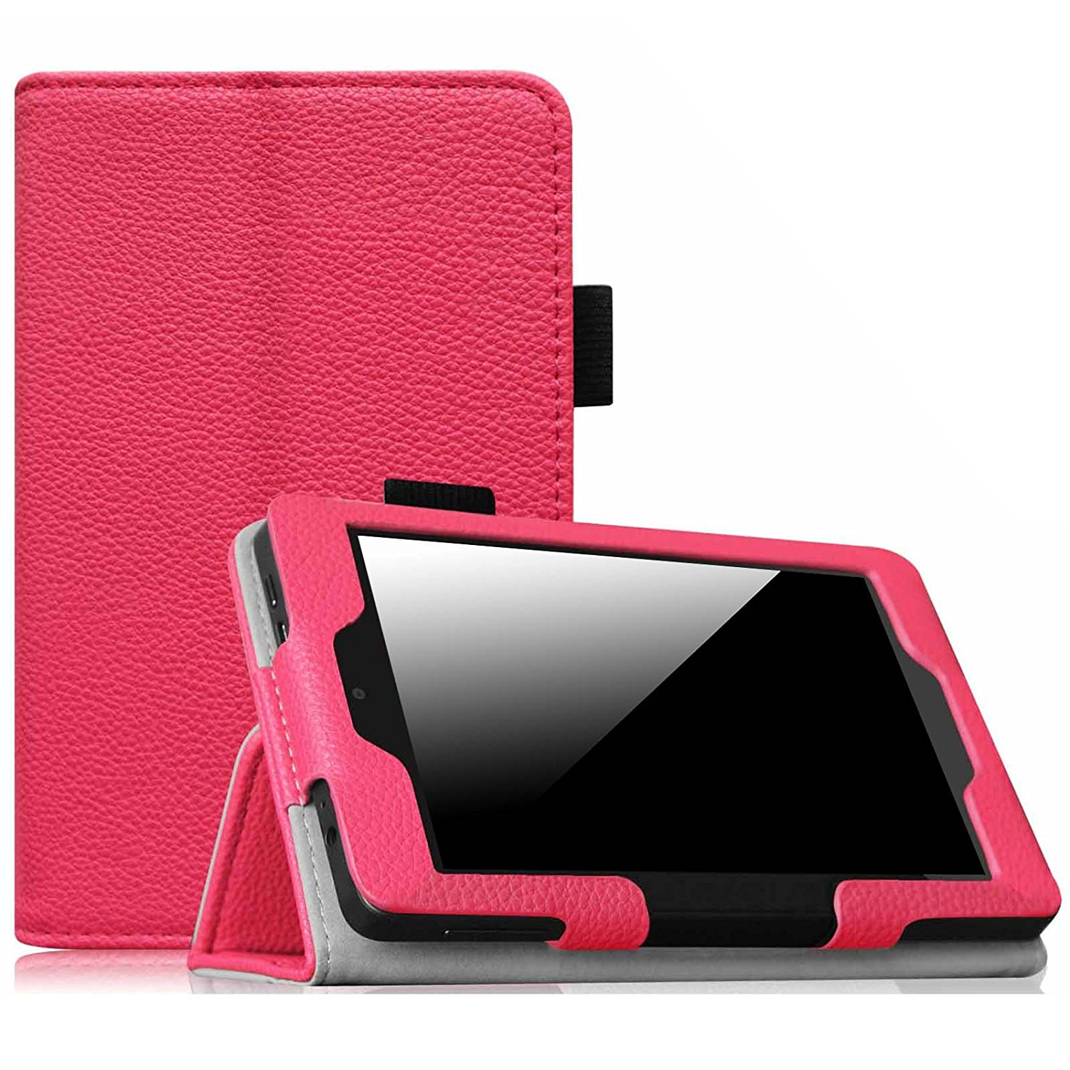 Fintie Kindle Fire HD 6 Tablet (2014 Oct Release) Folio Case - PU Leather Stand Cover with Sleep/Wake, Magenta