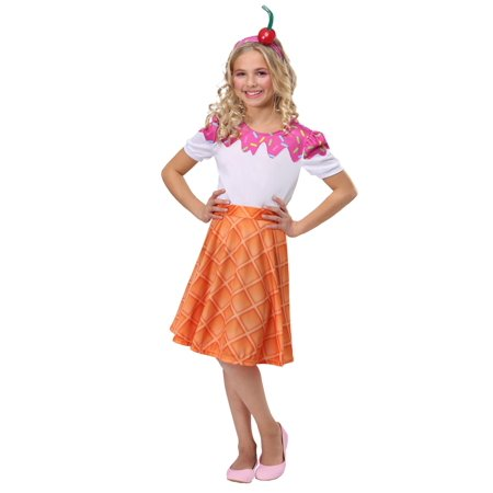 Girls Ice Cream Cone Costume](Safety Cone Costume)